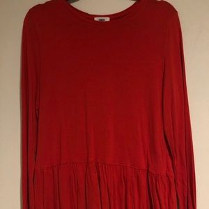 NWOT Old Navy long sleeve peplum top